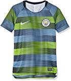 Nike Kinder Manchester City FC Dry Squad T-Shirt, Volt/Field Blue/Dark Obsidian/White, XS