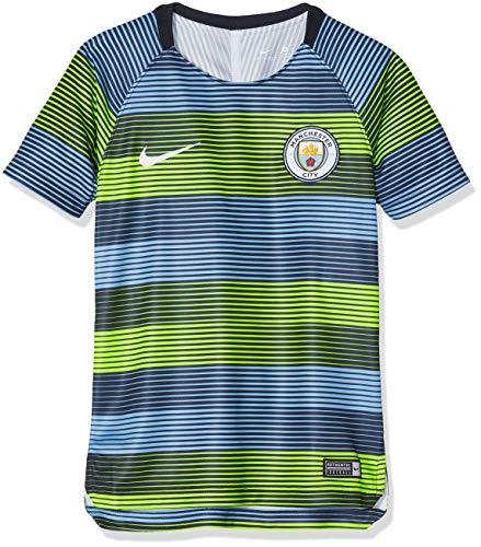 Nike Kinder Manchester City FC Dry Squad T-Shirt, Volt/Field Blue/Dark Obsidian/White, XL -