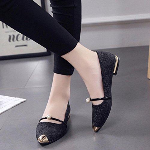 Women Casual Flat Shoes Boots, SOMESUN Signore Delle Donne Scarpe A Punta Scarpe Casual Tacco Basso Scarpe Piane Black