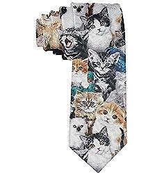 Men 'S Fashion Tie Katzenrassen Gepackte Katzen Krawatte One Size Neck Tie