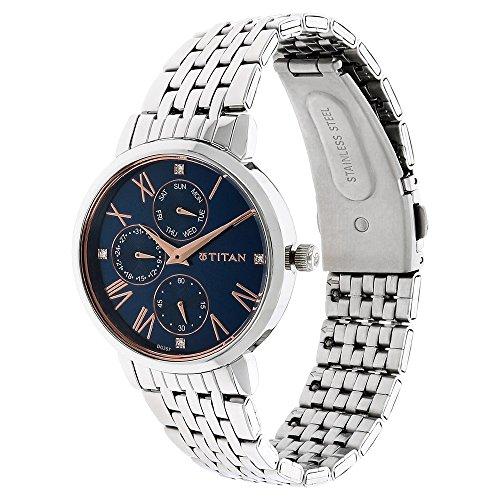 Titan Ladies Neo-Ii Analog Blue Dial Women\'s Watch-NK2569SM01