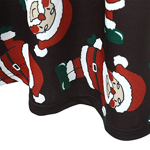Elite99 Femmes Noël Père Noël Fête Swing Robe Évasée Haut Grande Taille Père Noël