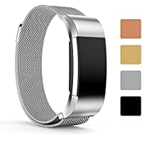 Fitbit Charge 2 Replacement Watchband Strap - iFeeker Magnet Lock Milanese Loop Stainless Steel Smart Watch Bracelet Strap Band for Fitbit Charge 2 Heart Rate and Fitness Wrist Band (No Tracker)