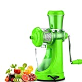 #5: Fruit and vegetable juicer | juicer, grinder, mixer with steel handle | plastic hand juicer manual | fruit & vegetable juicer hand machine | hand juicer press without electricity with strong vacuum for all fruits and vegetables (Color May Vary)