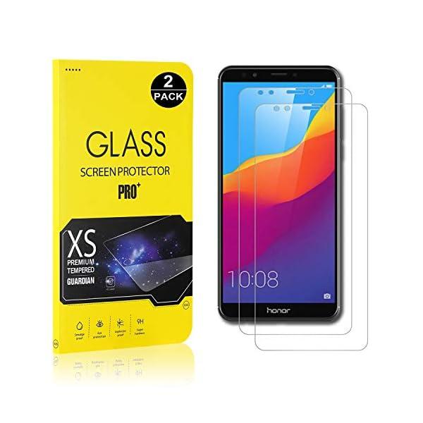 Bear Village® Protector de Pantalla Huawei Honor 7C, 9H Alta Definicion Anti-rasguños Vidrio Templado Protector de… 1