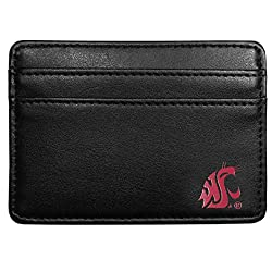 NCAA Washington State Cougars Leather Weekend Wallet, Black
