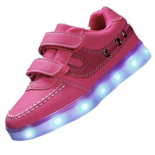 Sportschuhe erwa 7 Schuhe Turnschuhe Aufladen junglest® Sneaker Usb Top Farbe C30 Sport Leuchtend Handtuch High Unisex Led present Für kleines tqwxP4U