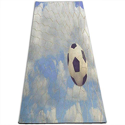 Estera de Yoga Balón de fútbol Vintage Cielo Nube Ejercicio de Alta Densidad Antideslizante Esteras...