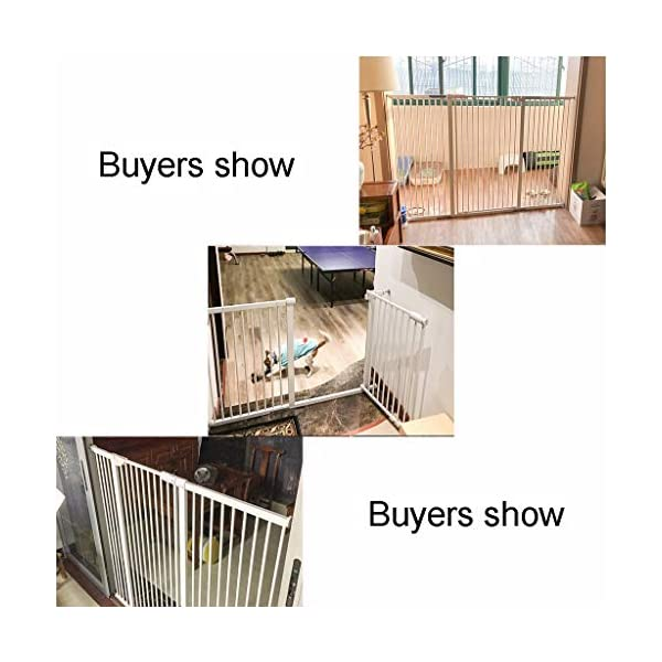 Child Safety Gate Pet Gate Punch-Free Automatic Locking Stairs Fence Small Pets Isolation Gate Door Width 71-180CM High 100CM (Size : 174-180CM) Hongsemenlan In order to allow you to buy a doorbar that better suits your needs, please measure your specific size when ordering, then contact our customer service or send us an email to tell us your size. We will customize a suitable fence for you. Features: Punch-free installation, easy to install, does not damage the wall. 90 ° of one side open, two-way door, normally open may be greater than 90 °. Double lock to prevent children mistakenly opened, magnetic locks, automatic door, 52CM free access to the channel. 7