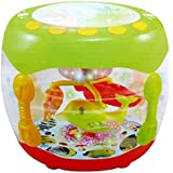 Toy vala Music Flash Battery Operated Drum Rotating Lamp Light With Musical Instrument Sounds