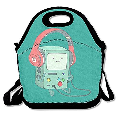 ZMvise Time Music Life les sacs réutilisables pique - nique déjeuner tote isolés boîtes hommes femmes enfants toddler infirmières sac de voyage