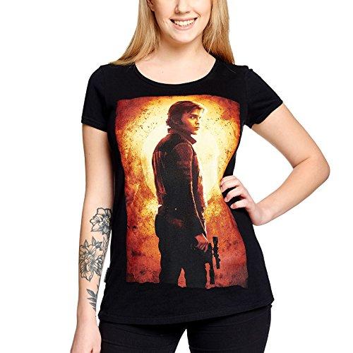 Star Wars Ladies Camiseta Han Solo de Elbenwald Cotton Black - L