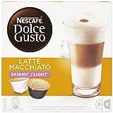 Nescafé Dolce Gusto Latte Macchiato Light, weniger Kalorien, Kaffee, Kaffeekapsel, 3 x 16 Kapseln (24 Portionen)