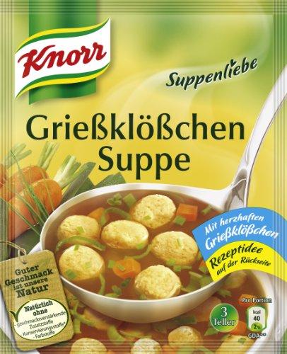Knorr Suppenliebe Grießklößchen Suppe (16 x 3 Teller)