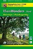 RheinWandern Nord (WR): Topographische Karte 1:25000 mit Wander- und Radwanderwegen mit dem Rheinsteig von Koblenz bis Bonn und dem RheinBurgenWeg von ... Rheinland-Pfalz 1:15000 /1:25000)