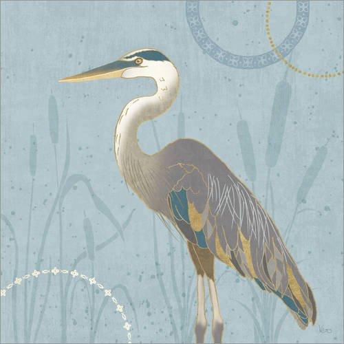 Posterlounge Acrylglasbild 120 x 120 cm: Am Ufer III von Veronique Charron/Wild Apple Graphics - Wandbild, Acryl Glasbild, Druck auf Acryl Glas Bild