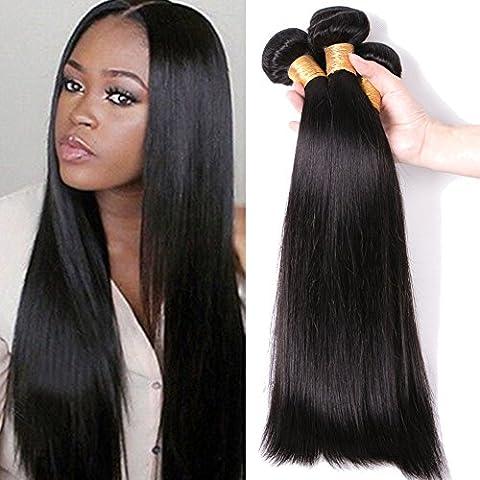 My-Lady 7A 300g/pack 3PZ 60cm Extension Matassa Tessitura Brasiliano 100% Human Virgin Remy Hair Capelli Veri Naturali Dritti