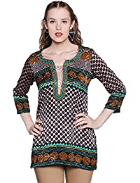 M.Tex Kurti For Women Round Neck Full Sleeves Crepe Straight Kurta