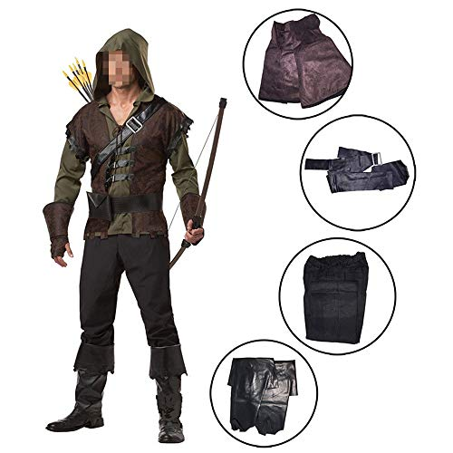 Green Damen Kostüm Arrow - kMOoz Halloween Kostüm,Outfit Für Halloween Fasching Karneval Halloween Cosplay Horror Kostüm,Halloween Kostüm Green Arrow Cosplay Kostüm Held Robin Hood Cosplay