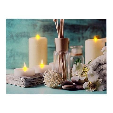 dekoratives LED Bild, Leinwandbild - Wellness/Spa, AN/Aus-Schalter,