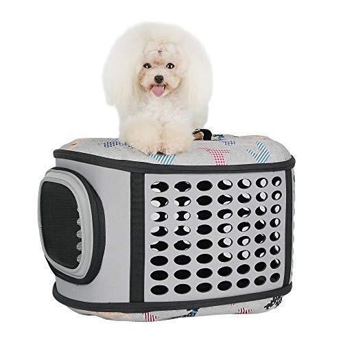 Haustier Tasche Hund Tasche aus Tragetasche EVA Faltbox Haustier - Blume grau -