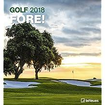 2018 Golf Calendar - Wall Calendar- Sports Calendar - 45 x 48 cm