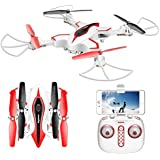 Syma X56W RC Drone Foldable Quadcopter With HD WiFi Camera And Live Video 4 Channel Headless Mode Altitude Hold One Key Take Off Landing - Upgraded