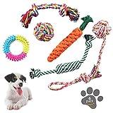 AYUTOY Masticare Giocattoli per Cani 6pz Giocattoli della Corde per Cane Giochi Giocattoli di Solitudine della Corda da Masticare Durevole per Piccolo a Medio Pet Interattivi Set