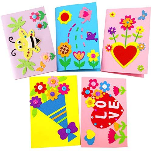 Yuccer Kit de Manualidades para Niños, Manualidades Infantiles Tarjetas Dia de la...