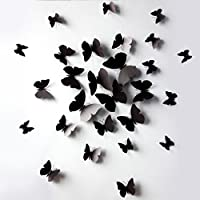 Vovotrade 12 pc 3D Wall Stickers frigorifero della farfalla del magnete per la decorazione