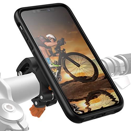 Morpheus M4s iPhone 11 Pro Fahrradhalterung - Handyhalterung Fahrrad iPhone 11 Pro - Halterung & iPhone 11 Pro Hülle magnetisch fürs Rad, DropTest, mit Quick Lock, Bike Kit schwarz