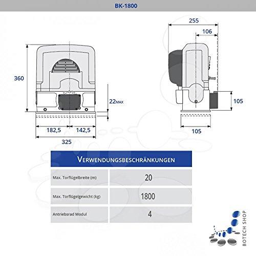 Schiebetorantrieb CAME BK 1800 (Set S)
