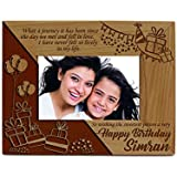 Presto Personalised Laser Engraved Wooden Photo Frame With Complimentary Photo Print.