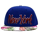 Die besten City Hunter City Hunter Baseball-Caps - City Hunter New York Blau Blumen Snapback Kappe Bewertungen