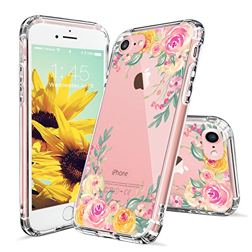 Floral Case for iPhone 7 iPhone 8 Pink Rose Flower