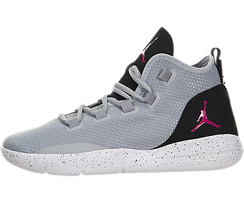 Jordan 5y Schuhe (Nike Mädchen Jordan Reveal GG Basketballschuhe, Gris (Wolf Grey/Vivid Pink-Black-White), 37.5 EU)