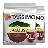 Tassimo Jacobs Caffè Crema Classico XL, Kaffee, Kaffeekapsel, gemahlener Röstkaffee, 2er Pack, 2 x 16 T-Discs