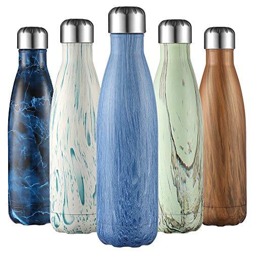 Bottiglia a doppia parete termoisolante liveup sports bottiglia d'acqua da 500 ml senza bpa tritan bottiglia di acqua detox- frantumare-resistente sport borracce thermos