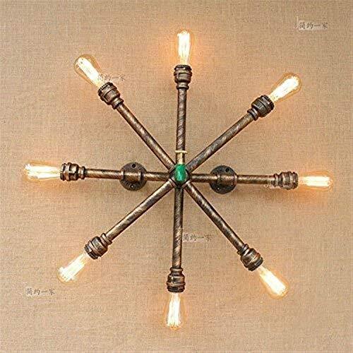 Luce della lampada da parete della luce della parete vintage tubature dell'acqua infissi 8-luci loft industriale ferro battuto d'antiquariato del metallo steampunk parete in metallo for bar corridoio