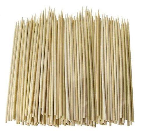 15cm große Bambus-Spieße im Vorteilspack, 15cm, ideal für BBQ, Kebab, Obst, Schokoladenbrunnen und Fondue, 500 Stück