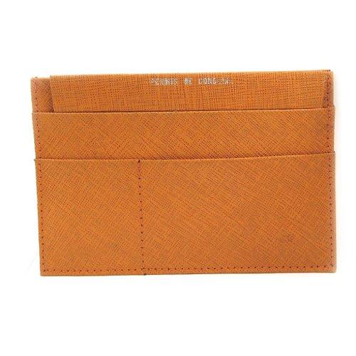 Frandi [L3443] - Porte Papiers de voiture Cuir 'Frandi' orange (ultra plat)