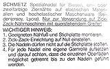 2 Schmetz Stretch Zwillingsnadeln NM 2,5/75 NM 4,0/75 und 2ter Garnstift Garnrollenhalter für Nähmaschinen Vergleich