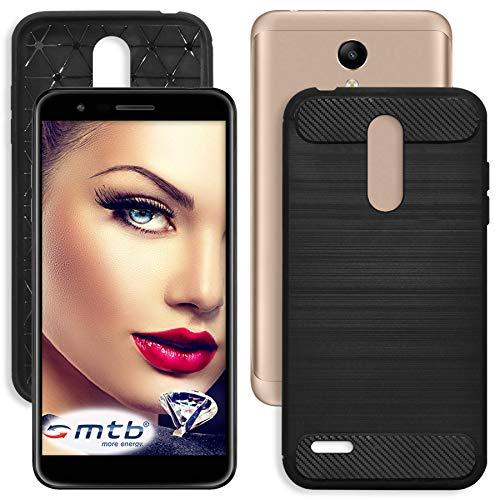 mtb more energy® Hülle Carbon für LG K11 (5.3'')   Schwarz   flexibel   TPU Case Cover Tasche Schutzhülle