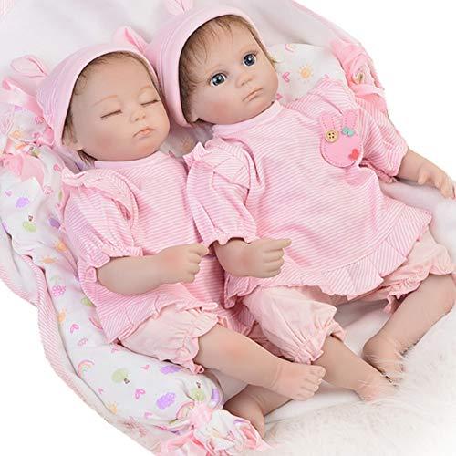 Candyana Twin Reborn Doll 42cm Realistic Simulation Baby Cute Girl Silikon Birthday Gift Dolls,42cm