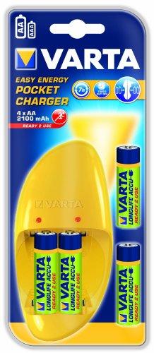 Varta Easy Energy Pocket Ladegerät inkl. NiMH Akku AA Mignon 2100 mAh 4er Pack
