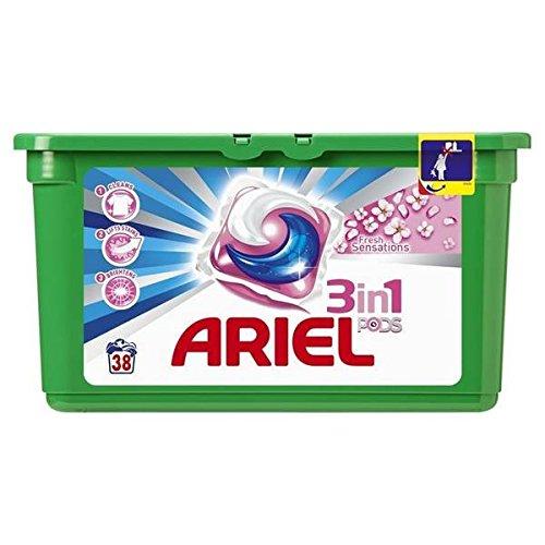 Ariel Pods Fresh Eindrücken Pink 38Dosen 1.184kg Schneller und gepflegte (Preis pro Stück)