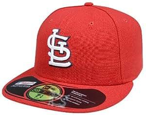 new era st louis cardinals home authentic cap rot/weiß