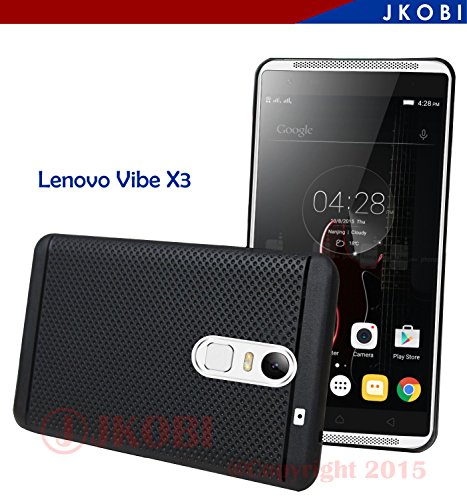 Jkobi 360* Protection Premium Dotted Designed Soft Rubberised Back Case Cover For Lenovo Vibe X3 -Black