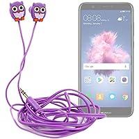 DURAGADGET Auriculares para niños estéreo in Ear con diseño de búho para Smartphone Huawei P Smart