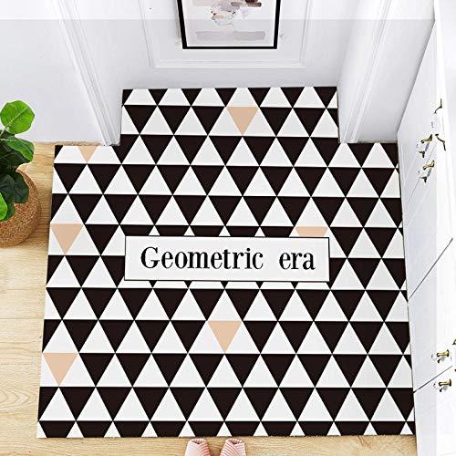 Tiwosan Kann geschnitten Werden PU-Leder-Fußmatten Fußmatten Küche wasserdicht und ölbeständig Haushalt Teppich Türmatte leicht zu reinigen und zu pflegen-Farbe (4#)_100 * 120 cm